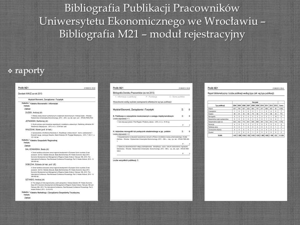 Bibliografia Publikacji Pracowników