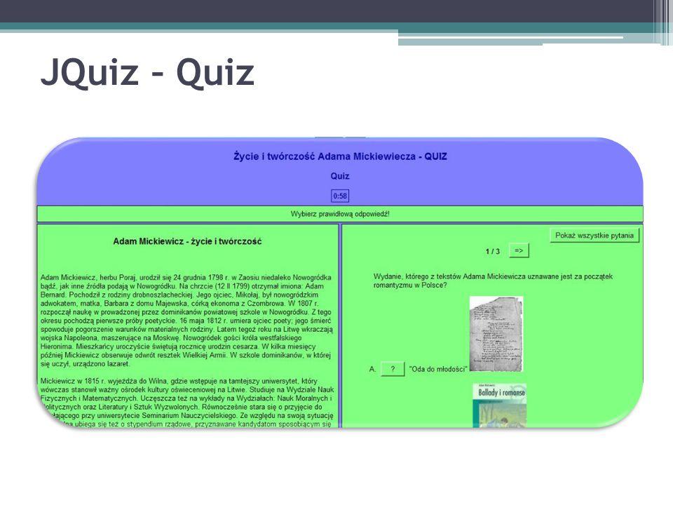 JQuiz – Quiz
