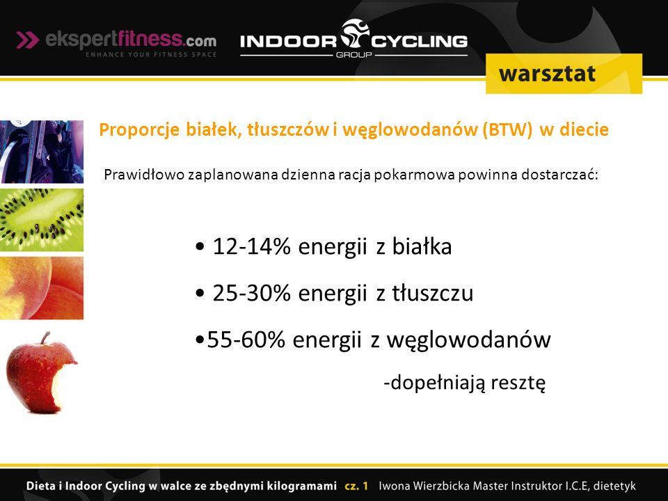55-60% energii z węglowodanów