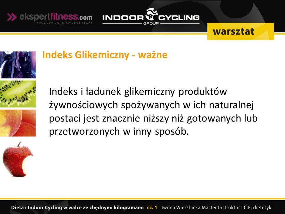 Indeks Glikemiczny - ważne
