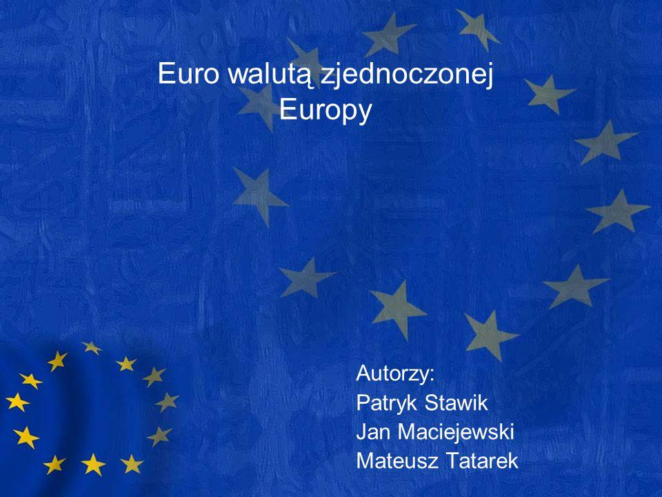 Euro walutą zjednoczonej Europy