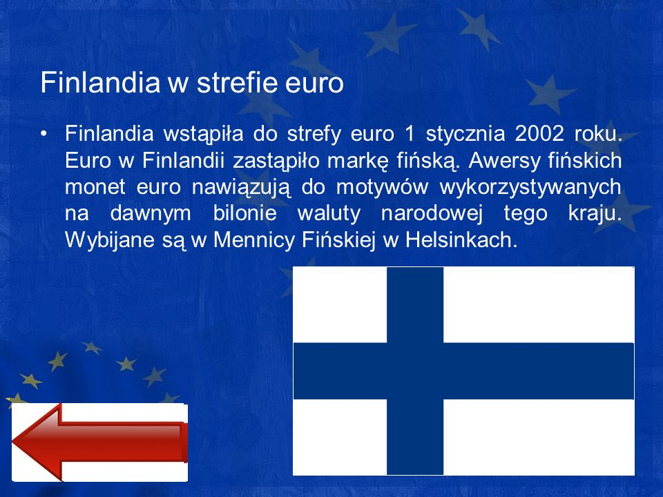 Finlandia w strefie euro