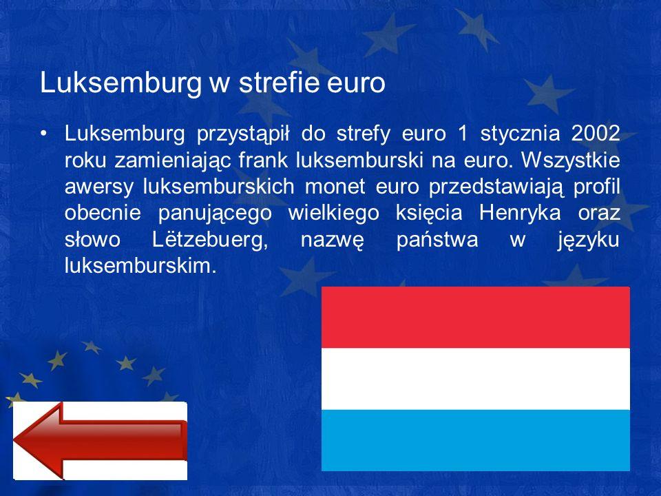 Luksemburg w strefie euro