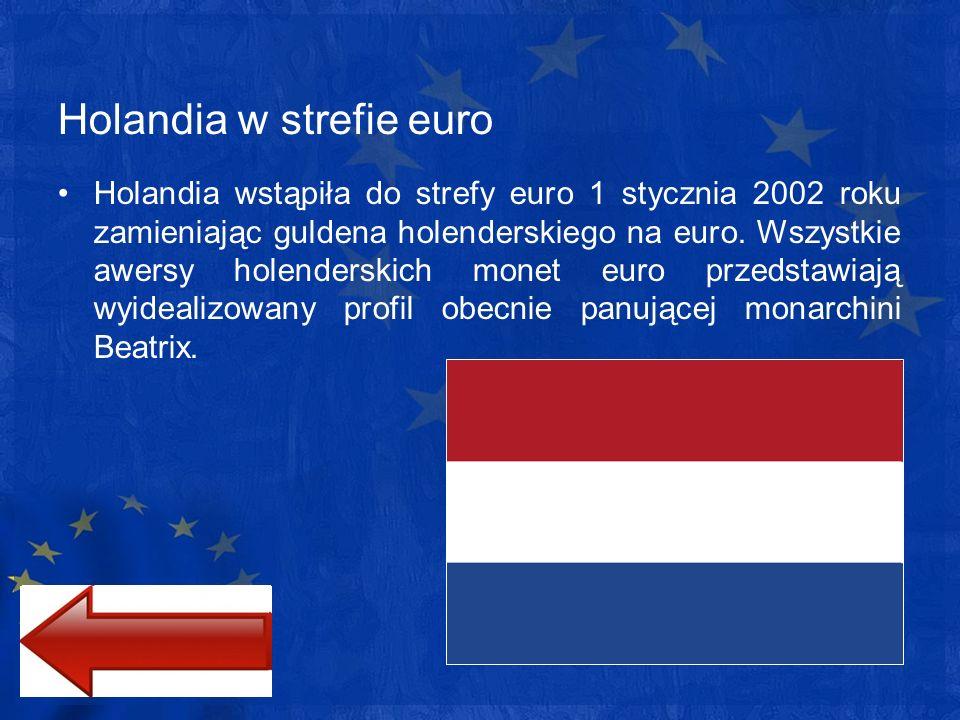 Holandia w strefie euro