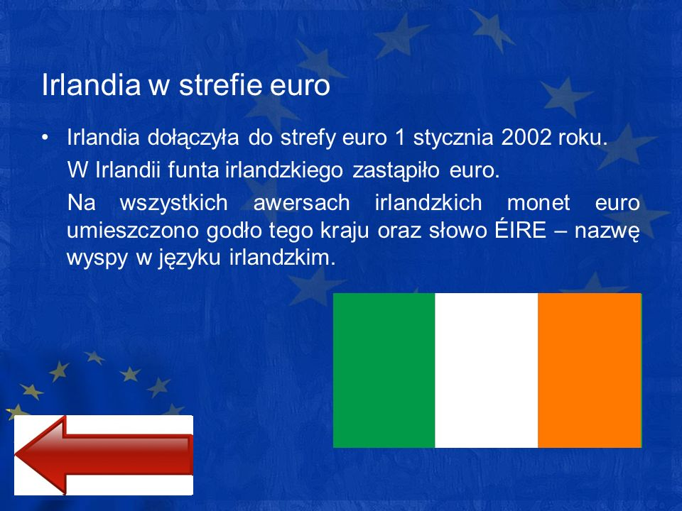 Irlandia w strefie euro
