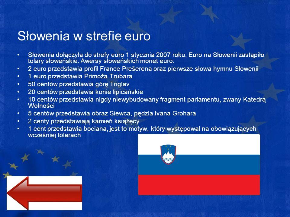 Słowenia w strefie euro