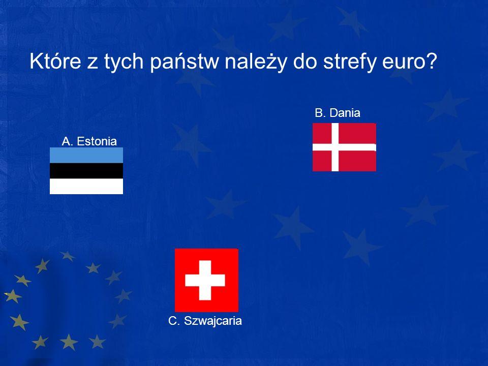 Które z tych państw należy do strefy euro