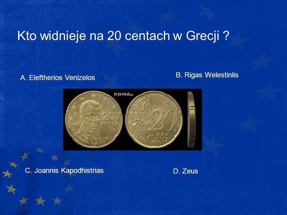 Kto widnieje na 20 centach w Grecji
