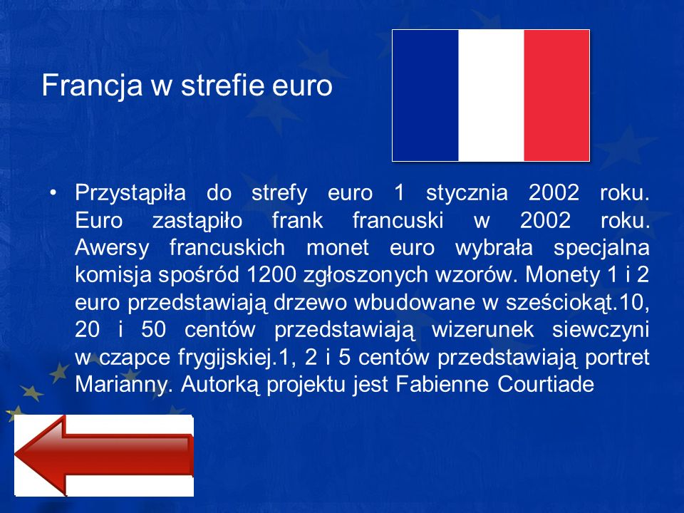 Francja w strefie euro