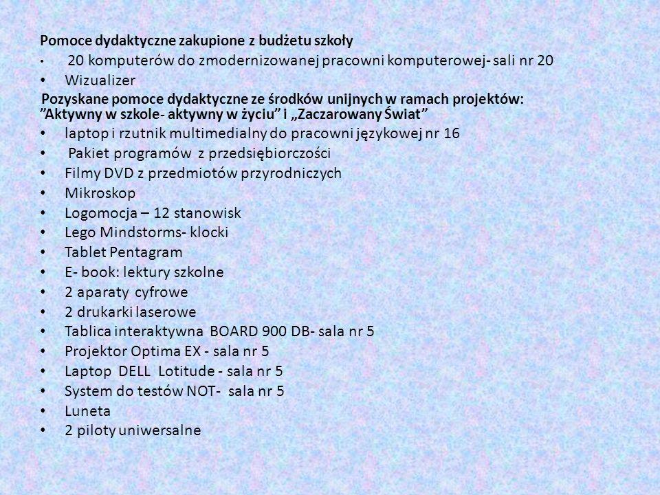 laptop i rzutnik multimedialny do pracowni językowej nr 16