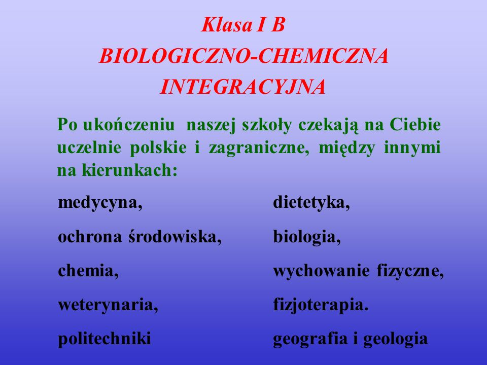 BIOLOGICZNO-CHEMICZNA
