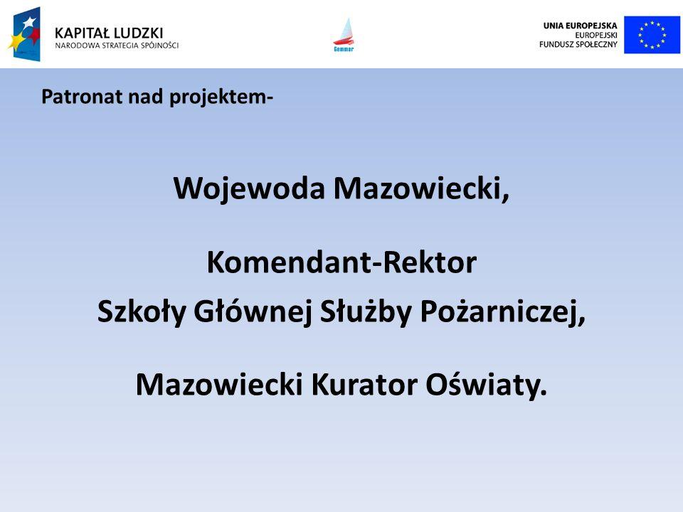 Szkoły Głównej Służby Pożarniczej, Mazowiecki Kurator Oświaty.