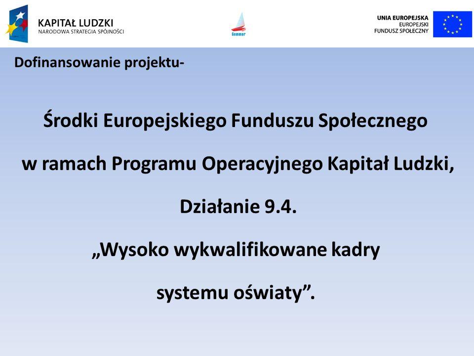 Środki Europejskiego Funduszu Społecznego