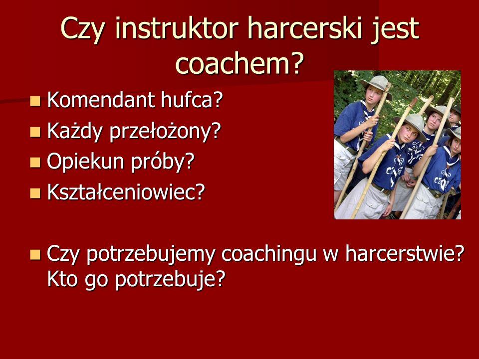 Czy instruktor harcerski jest coachem