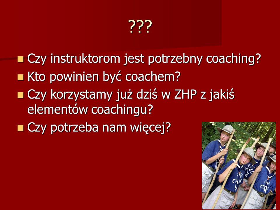 Czy instruktorom jest potrzebny coaching