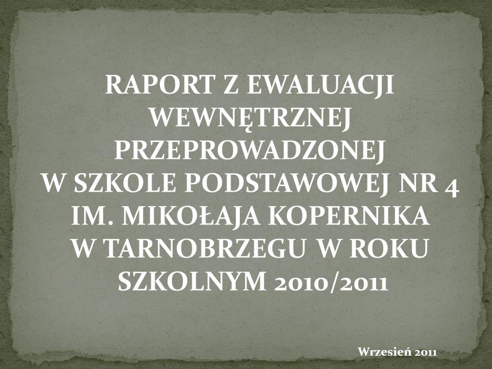 PRZEPROWADZONEJ SZKOLNYM 2010/2011 Wrzesień 2011