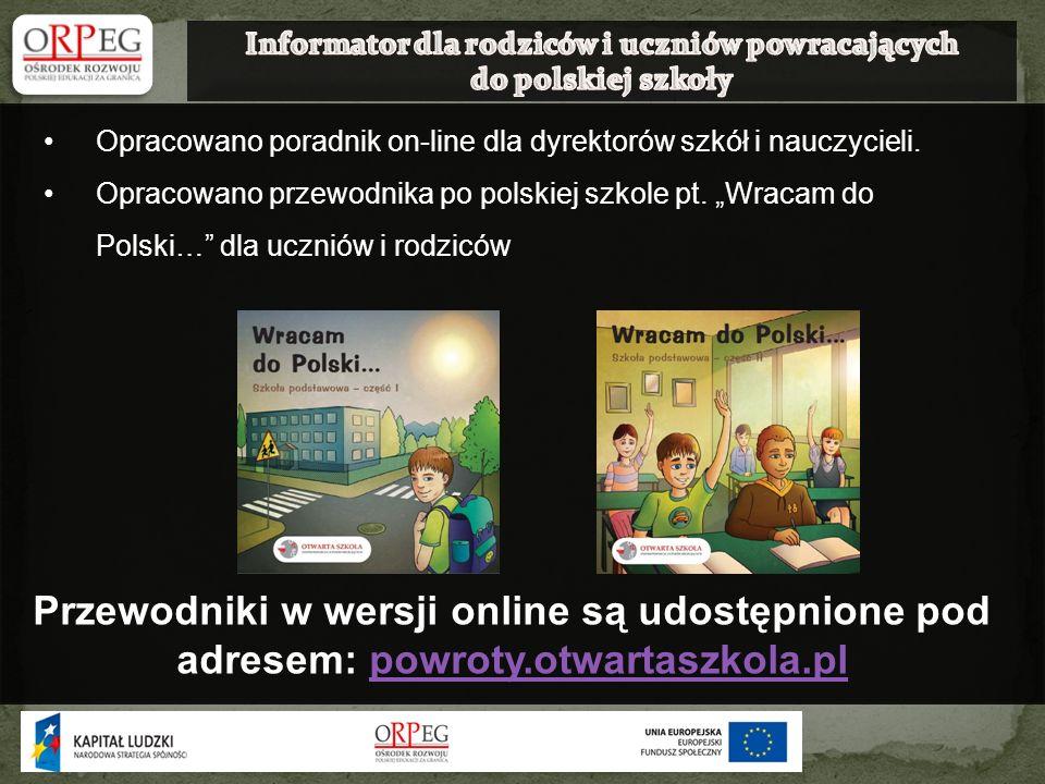 Informator dla rodziców i uczniów powracających do polskiej szkoły
