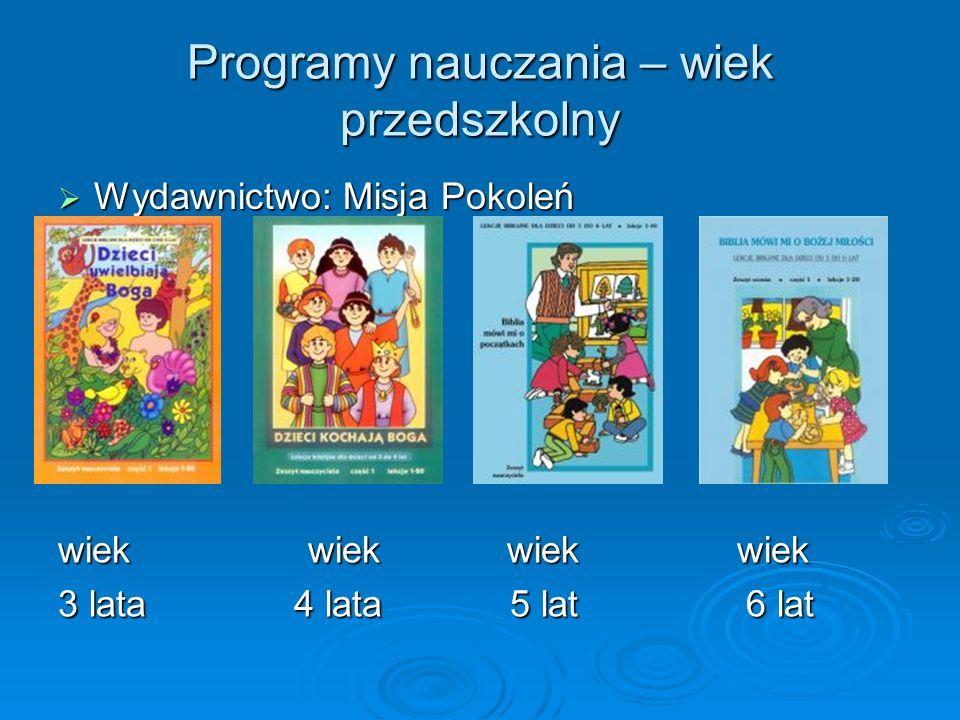 Programy nauczania – wiek przedszkolny