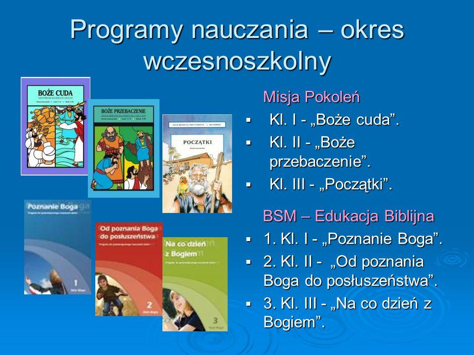 Programy nauczania – okres wczesnoszkolny
