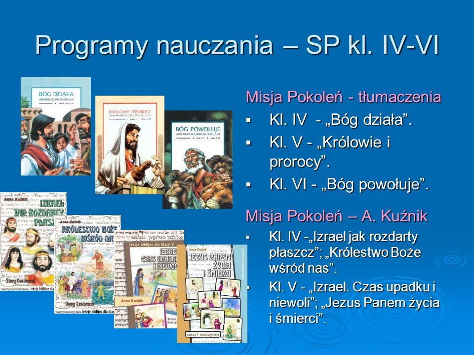 Programy nauczania – SP kl. IV-VI