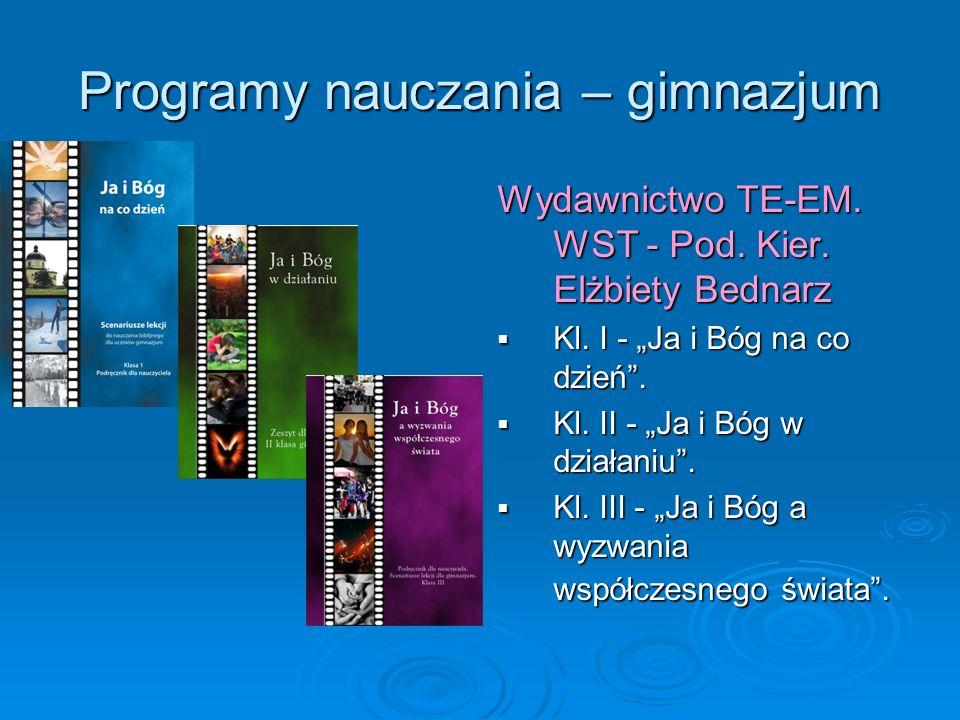 Programy nauczania – gimnazjum