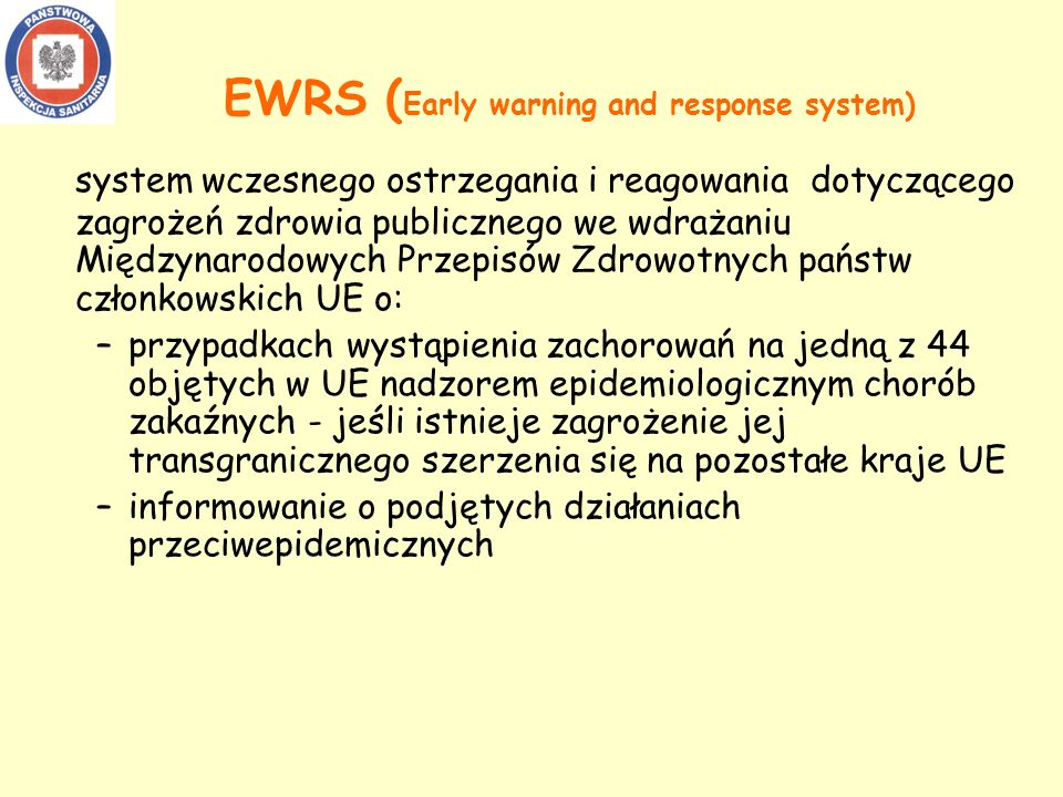 EWRS (Early warning and response system)