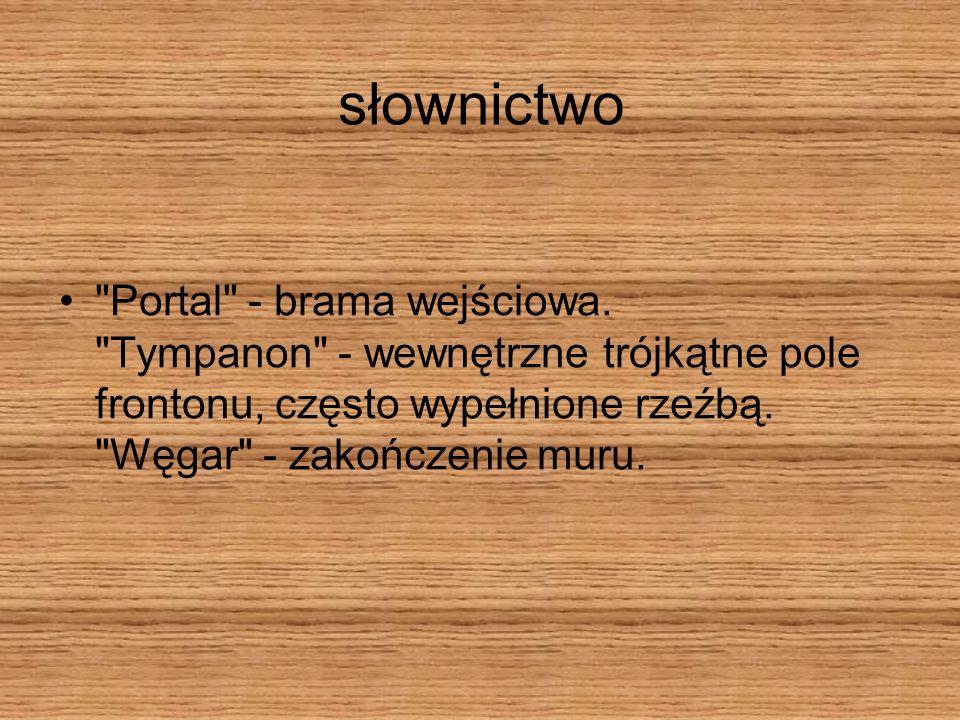 słownictwo Portal - brama wejściowa.