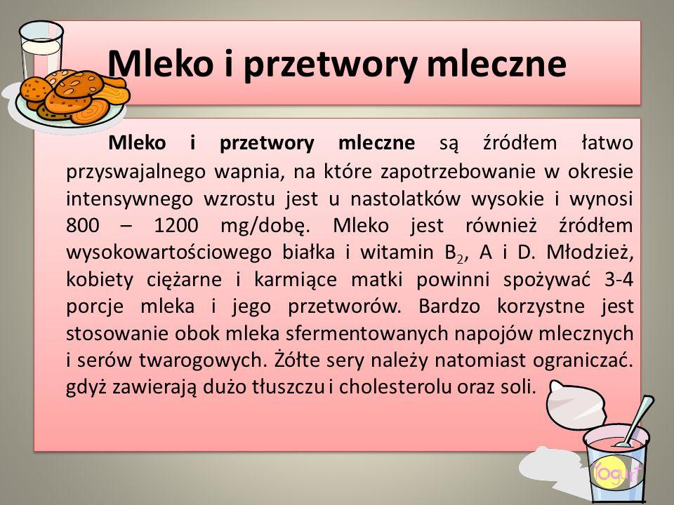 Mleko i przetwory mleczne