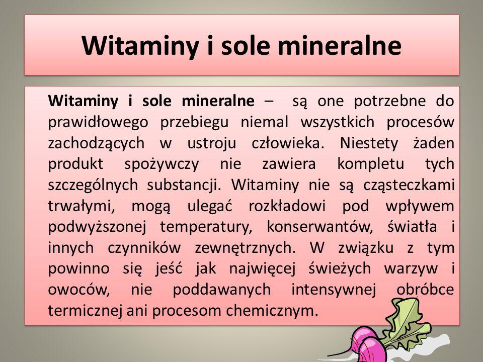 Witaminy i sole mineralne