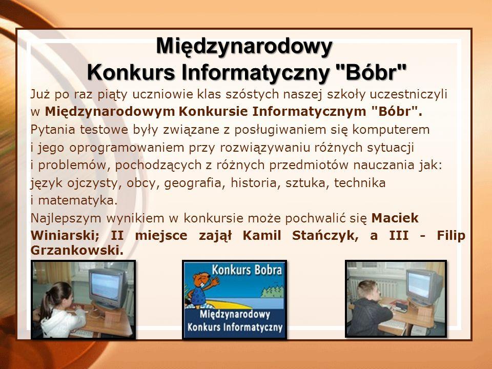Konkurs Informatyczny Bóbr