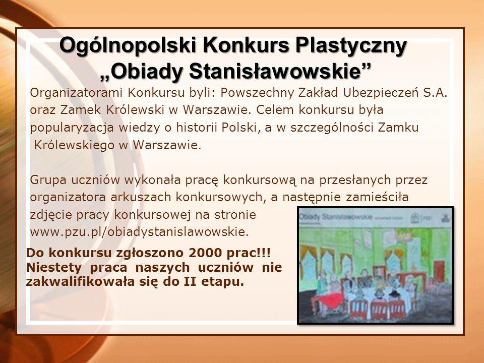 """Ogólnopolski Konkurs Plastyczny """"Obiady Stanisławowskie"""