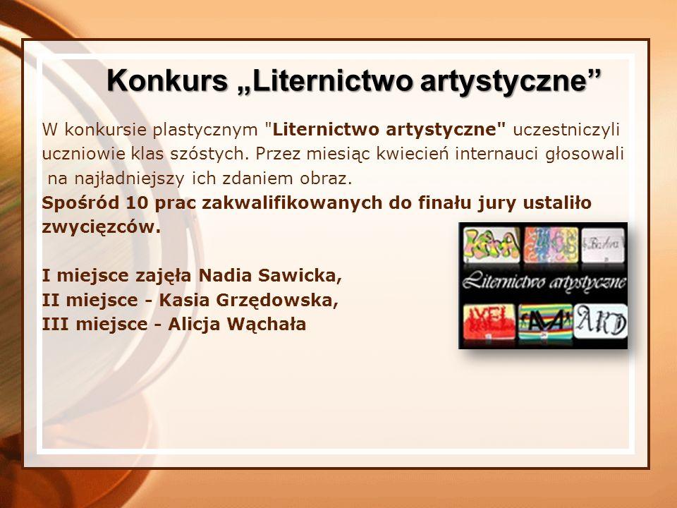 """Konkurs """"Liternictwo artystyczne"""