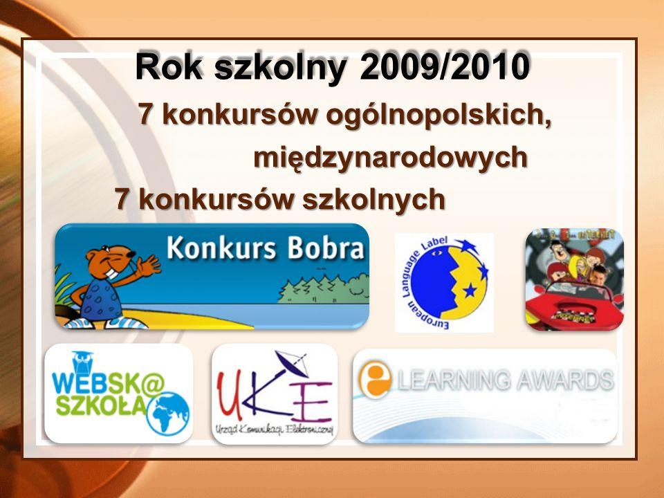 7 konkursów ogólnopolskich,