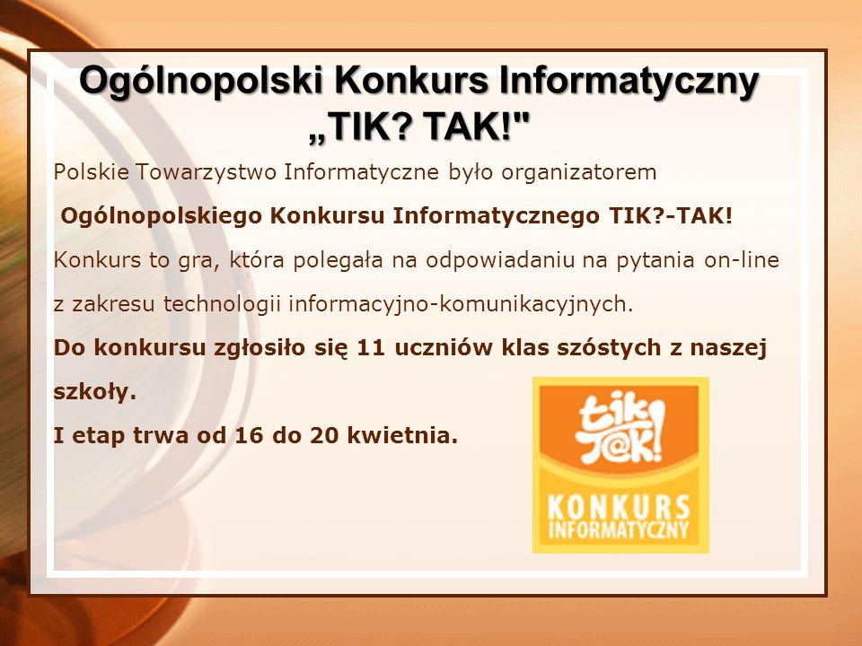 Ogólnopolski Konkurs Informatyczny