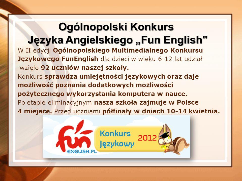 """Języka Angielskiego """"Fun English"""