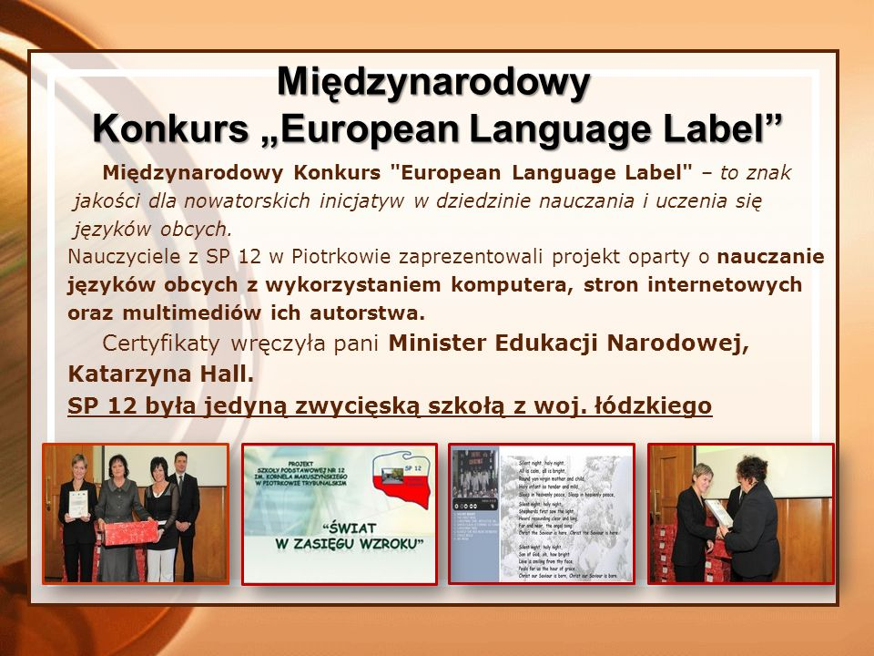 "Konkurs ""European Language Label"