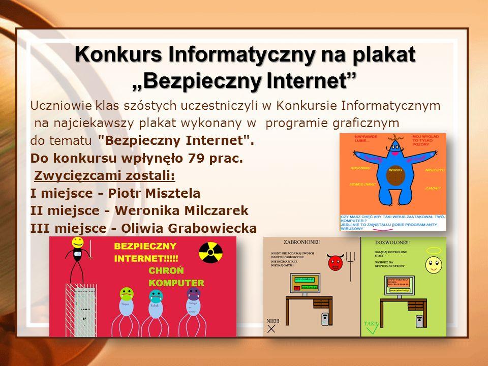 """Konkurs Informatyczny na plakat """"Bezpieczny Internet"""