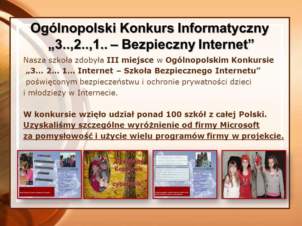 """Ogólnopolski Konkurs Informatyczny """"3..,2..,1.. – Bezpieczny Internet"""