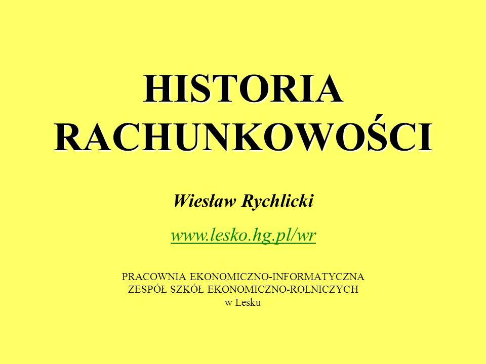 HISTORIA RACHUNKOWOŚCI