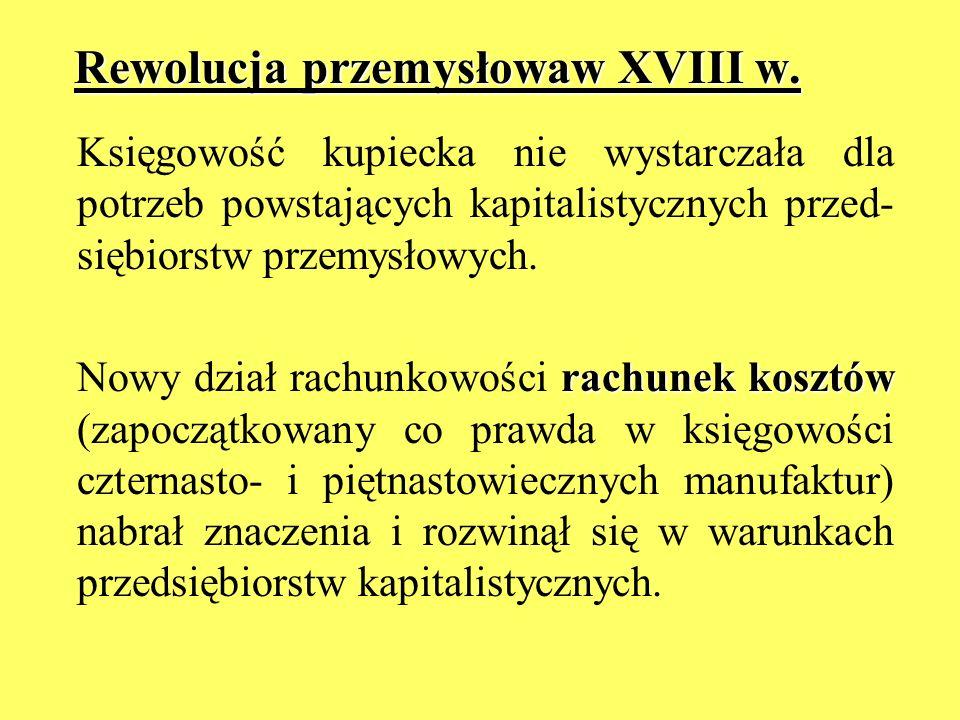 Rewolucja przemysłowaw XVIII w.