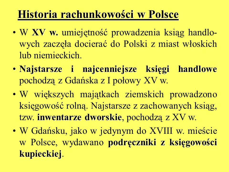 Historia rachunkowości w Polsce