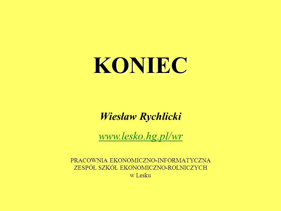 KONIEC Wiesław Rychlicki www.lesko.hg.pl/wr