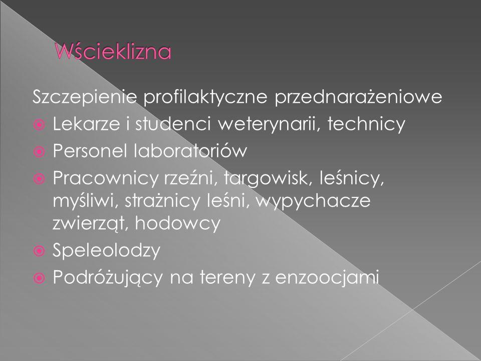 Szczepienie profilaktyczne przednarażeniowe