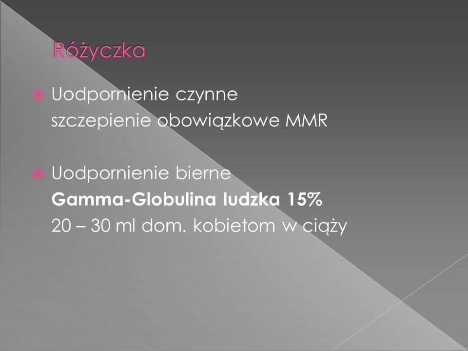 Uodpornienie czynne szczepienie obowiązkowe MMR. Uodpornienie bierne.