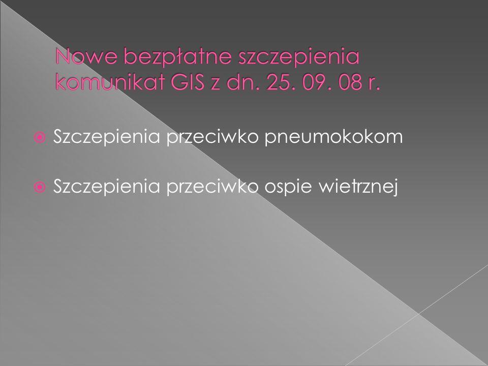 Szczepienia przeciwko pneumokokom
