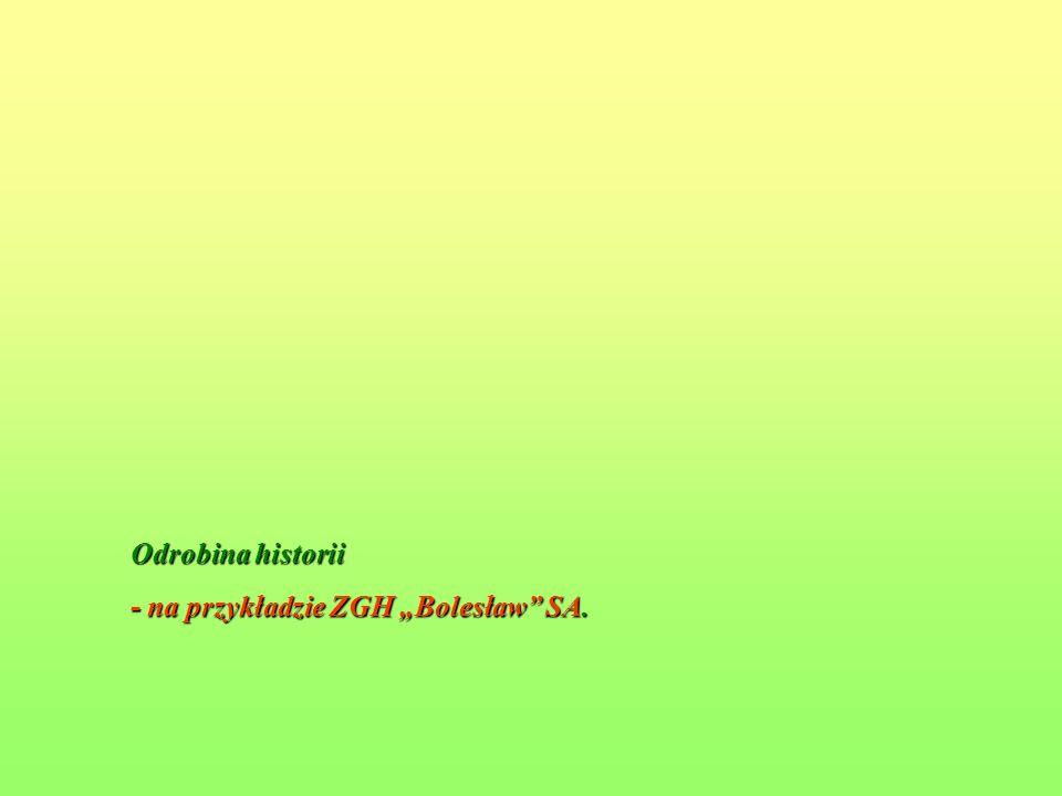 """Odrobina historii - na przykładzie ZGH """"Bolesław SA."""