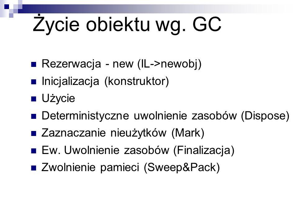 Życie obiektu wg. GC Rezerwacja - new (IL->newobj)