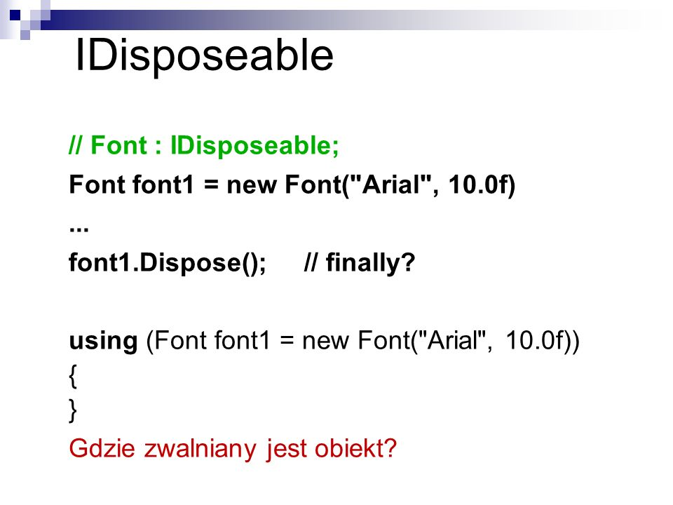 IDisposeable