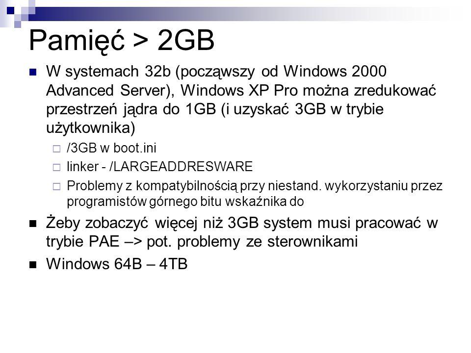 Pamięć > 2GB