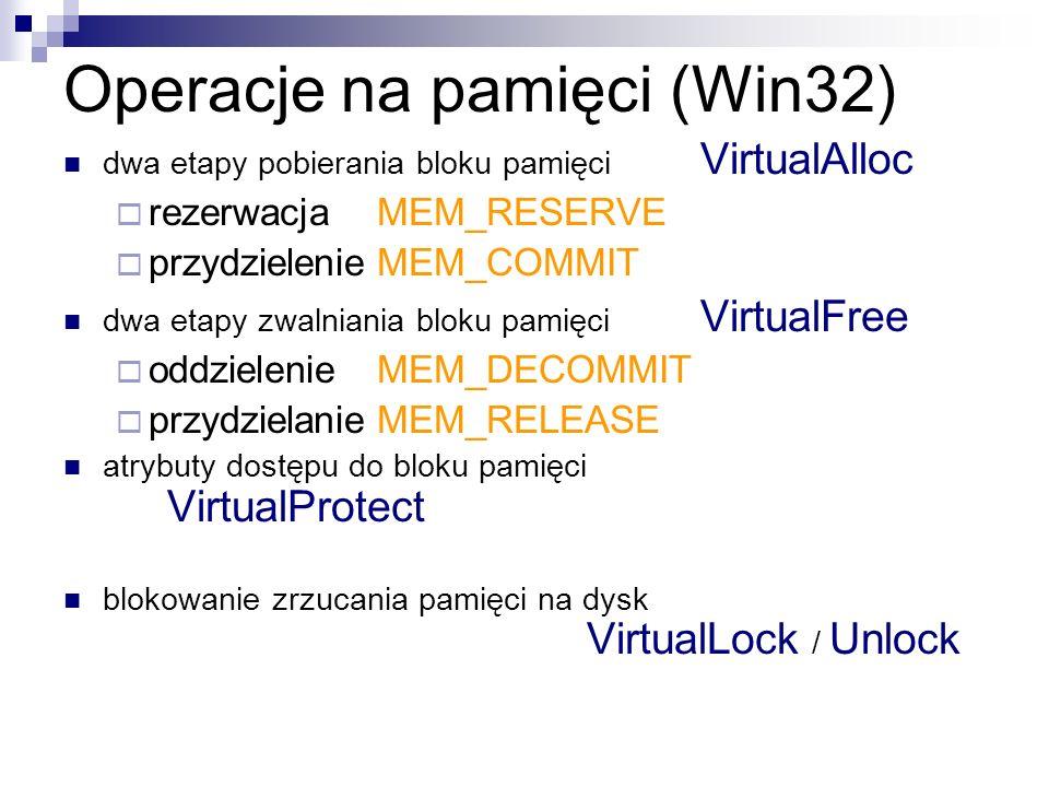 Operacje na pamięci (Win32)